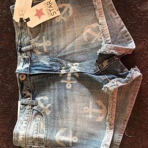 NWT anchor jean shorts